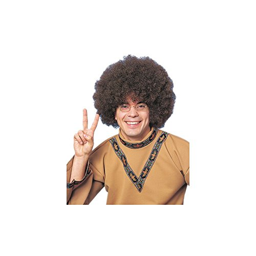 Clown Jumbo Afro Wig in Brown