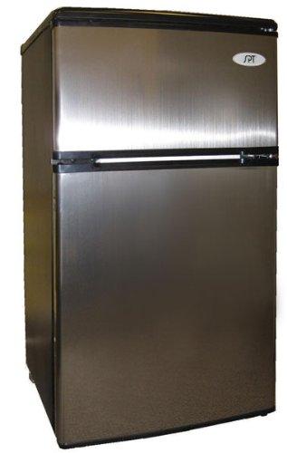 SPT Energy Star 3.2 cu.ft. Double Door Refrigerator in Stainless Steel