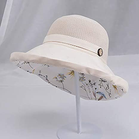 Mountaineering Red,Free Size Camping By Sagton Sun Hat For Women Breathable Bucket Cap Wide Brimmed Anti-uv Foldable Floppy Cotton Hat for Gardening