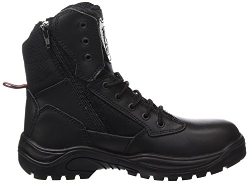Steel Toe Cap Combat Tactical Safety Ankle Boots Security Military Police Boot Black AO5pFB3X3Y