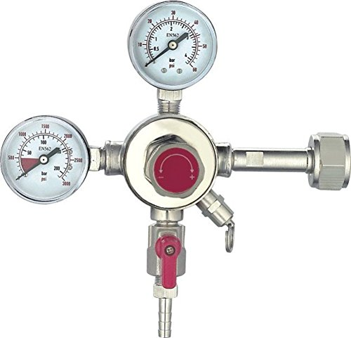 HFS (R) Commercial CO2 Regulator - Beer Brewing Kegerator Dual Gauge Shutoff Valve (1 Product)
