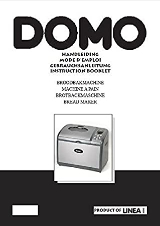 Domo Pan máquina eléctrica manual de instrucciones y recetas B3990: Amazon.es: Hogar