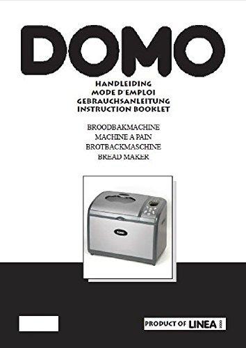 Domo Pan máquina eléctrica manual de instrucciones y recetas B3990 ...