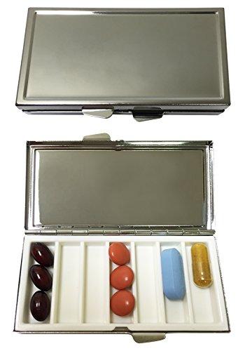 Seven Compartment Silver Plated Pill Box