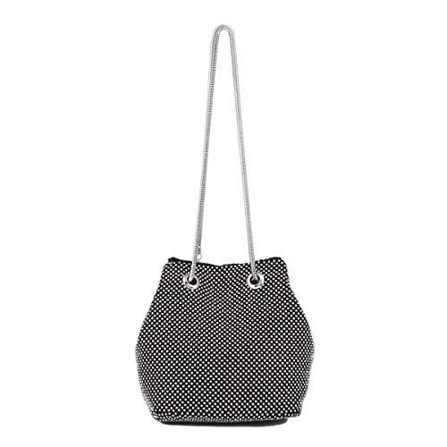 LeahWard Women's Clutch Shoulder Bags Party Prom Wedding Evening Bag Handbags 501 Black