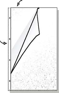 Hetzel 22430490 - Lote de 100 fundas de plástico (DIN A4, perforadas, abertura lateral)