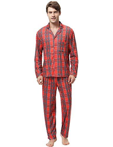 estampado Navidad de de rojo Ropa dormir de pijamas rojo Aibrou Ropa Conjunto de Pijamas hombre Conjuntos 4OqWpC