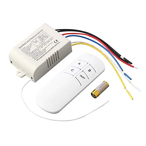 220V 3 Way ON/OFF Digital RF Remote Control Switch Wireless For Light Lamp ()