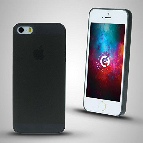 cTRON21 Handyhülle Apple iPhone SE / 5S / 5 Schutzhülle Ultra Slim Case Hülle 0,3 mm Schwarz