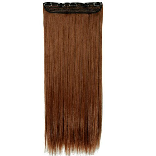 S-noiliteÂÂÂUS Local Seller 26 Inches Straight One Piece Clip in Hair Extensions (5 Clips) Light Auburn Clip Ins Hairpiece for Women Lady Girl by US Fashion - Outlet Auburn