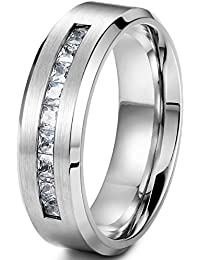 jstyle jewelry 8mm titanium rings for men wedding engagement rings promise size 8 14 - Titanium Wedding Rings For Men