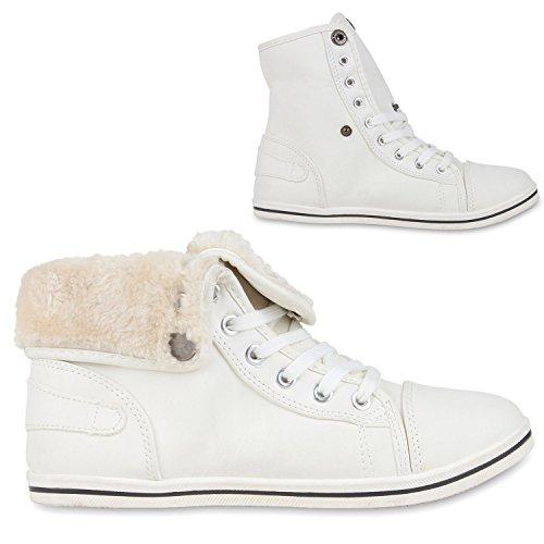 napoli-fashion - Zapatillas de tela para mujer, color blanco, talla 37 EU