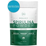 Spirulina Powder Organic - USDA Certified - RAW Nutrient Dense Over 70% Protein Per Serving - Purest Source Vegan Protein - Superfood - Rich in Vitamins and Minerals