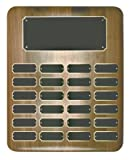 24 Plate Perpetual Plaque 15''x12'' FREE CUSTOM ENGRAVING Elliptical Walnut with Black Plates