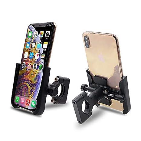 6s Plus Fits iPhone X Bike Handlebars iPhone 6s ZRAMO Universal Bike Phone Mount for Motorcycle 7 Plus GPS Mount Adjustable Galaxy,4 to 6.5 Phone XR,7 Black