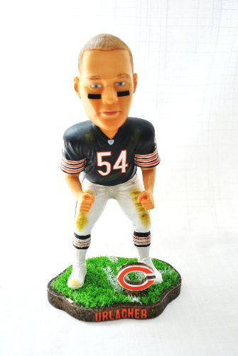 - Chicago Bears #54 Brian Urlacher (linebacker) rare action Field Base Forever Collectibles NEW IN BOX FOOTBALL BOBBLE HEAD 8