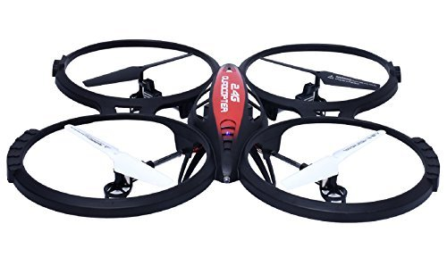 Price comparison product image RC Drone, ToyPark 2.4Ghz Portable RC Quadcopter Drone with 6-Axis Gyro RC Drone with 0.5 MP Camera (L6036-1)