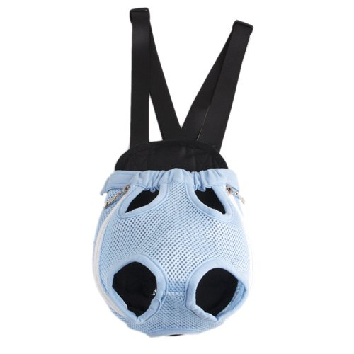 Blue Pet Dog Carrier Backpack Net Nylon S-size, My Pet Supplies