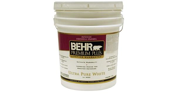 5 Gal Ultra Pure White Eggshell Enamel Zero Voc Interior Paint Amazon Com