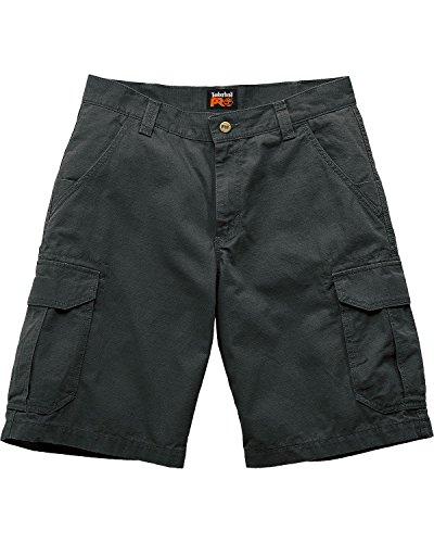 Timberland Mens Shorts - Timberland PRO Men's Work Warrior Ripstop Utility Short, Jet Black, 32W x 11L