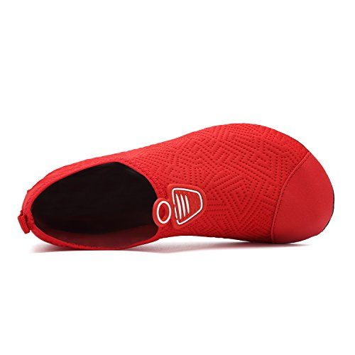 Womens Mens for Aqua Shoes Yoga Sports Breathable Walking Boating Garden Red Dry Beach Swim Driving Dance Park Swim Lake 1 Quick Shoes welltree Unisex Water Shoes 5O0dnxwOFq