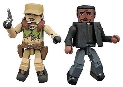 The Walking Dead Minimates Series 8 All-Out War Rosita and Father Gabriel 2-pack
