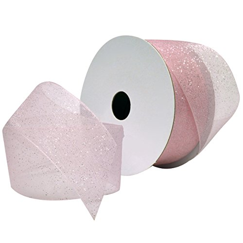Morex Ribbon Sugar Sheer Organdy Ribbon, 1-1/2-Inch by 25-Yard, Light ()