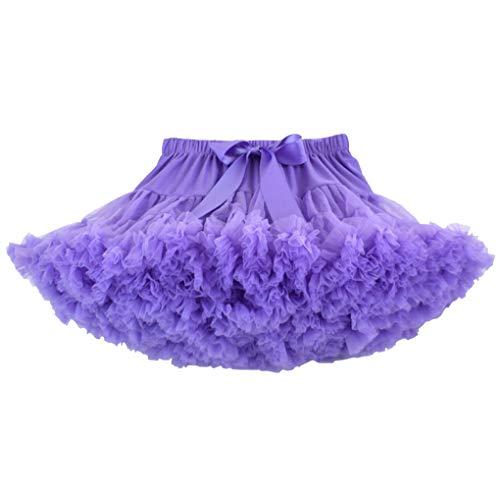 Ruffle Violet Classique Princesse Danse Acmede Petticoat Jupe Tutu Jupe Plissé Fille Courte Élastique XP07POvq