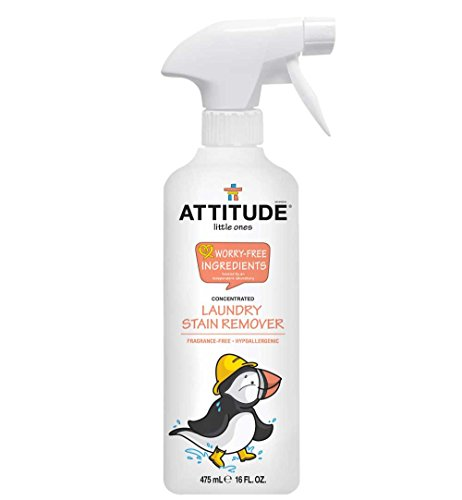 ATTITUDE Little Ones, Laundry Stain Remover Spray, Concentrated, Fragrance-Free, 16 fl oz (475 (16 Oz Concentrated Stain Remover)