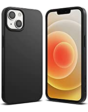 Ringke Compatible with iPhone 13 Case, Air-S Silicone Type Shockproof Flexible Matte TPU Thin Full Protection Phone Cover for 6.1-inch (2021) (Black)