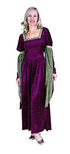 OvedcRay Renaissance Queen Lady Woman Costume Medieval Faire Juliet Princess Adult Dress -