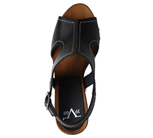 Versace - Sandalias de vestir de Piel para mujer Negro negro