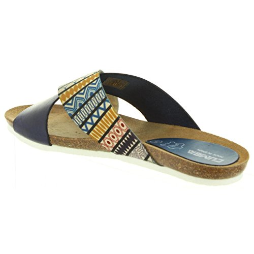 Estampado Cumbia marino 30141 Sandales Pour Femme z670p