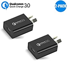 Australia 18W Quick Charge 3.0 Wall Charger, Qualcomm Quick Charge 3.0 USB Wall Charger Portable Adapter(Quick Charge 2.0...