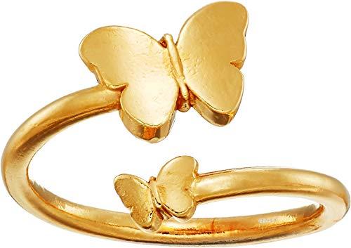 Alex and Ani Women's Ring Wrap Butterfly Rafaelian Gold adjustable