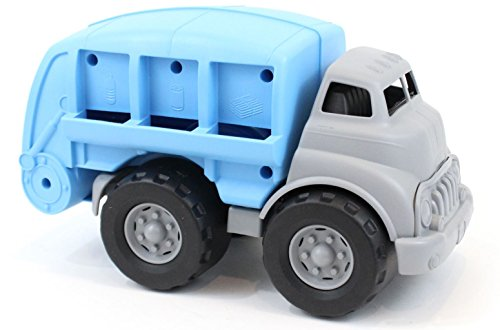 Green Toys Recycling Truck Blue Vehicle Toy, Grey, 12''X6.25''X7.25'' by Green Toys