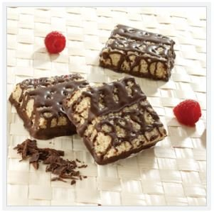ProtiDiet Dark Chocolate & Raspberry Squares - 7 servings per box - 15 gm protein per seving