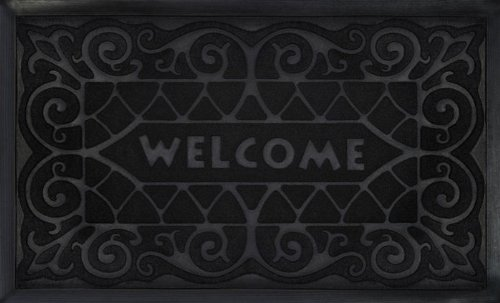 Park Avenue Collection Welcome Mat 18x30 Wrought Iron - Black ()