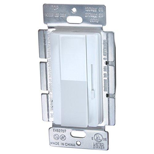 LumeGen LED 0-10V Dimmer Switch -Single/3 Way, Mini Paddle and Slider - White