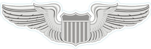 US Air Force Pilot Wings Decal Sticker 3.8