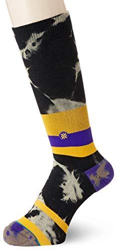 Stance Men's Lakers Acid Wash Socks,Large,Yellow ()