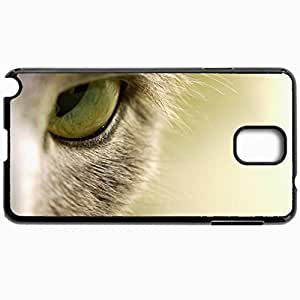 Customized Cellphone Case Back Cover For Samsung Galaxy Note 3, Protective Hardshell Case Personalized Cat Macro Eye Black