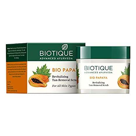 3f864aff2a Buy Biotique Bio Papaya Revitalizing Tan Removal Scrub for All Skin Types
