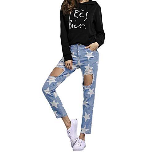 Pantalones Rotos Mujer, K-Youth® Mujer Vaqueros Rotos ...
