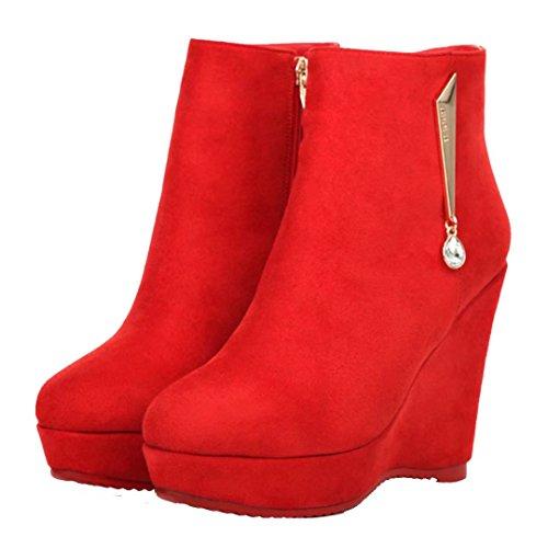 1 Women's Classic Boot AIYOUMEI rot YwqIgpz