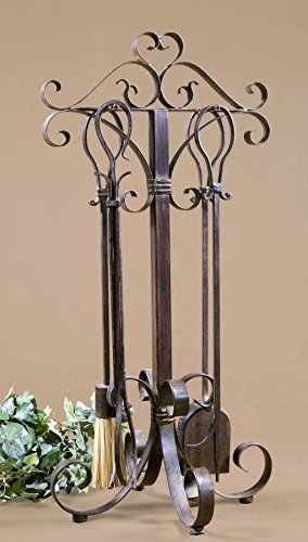 The Daymeion Metal Fireplace Tools, Set/5 Fireplace Accessories