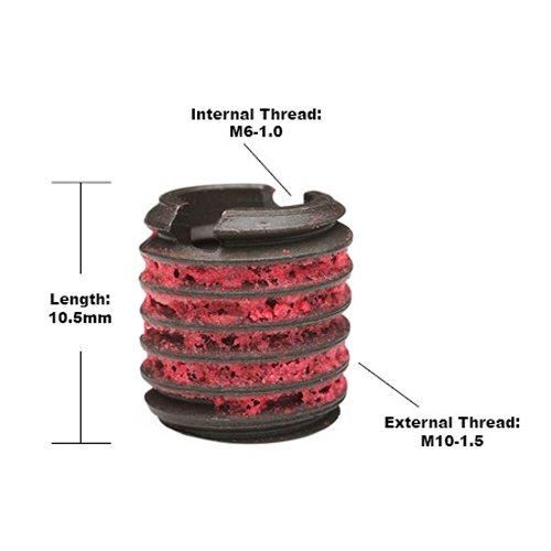 Steel E-Z LOK EZ-450-6 Threaded Inserts for Metal Black Oxide M6-1.0 Installation Kit