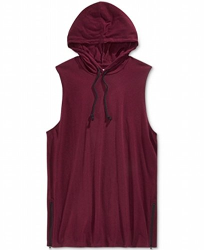 American Rag Mens Sleeveless Pull On Hoodie Red (American Rag Sleeveless)