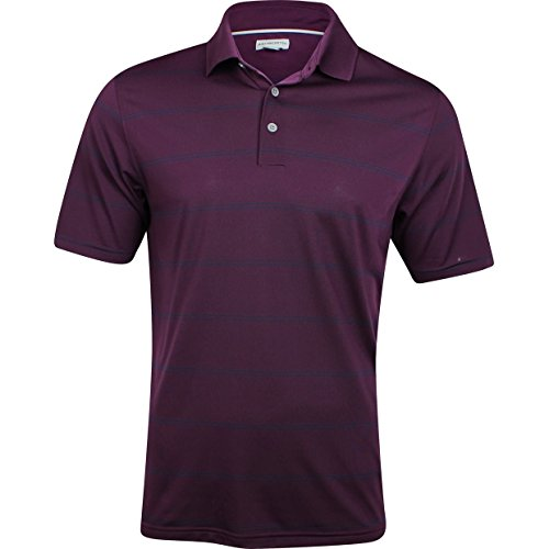 Ashworth Mens EZ-SOF Polo Solid Golf Shirt in Purple and Blue Stripe (X-Large)