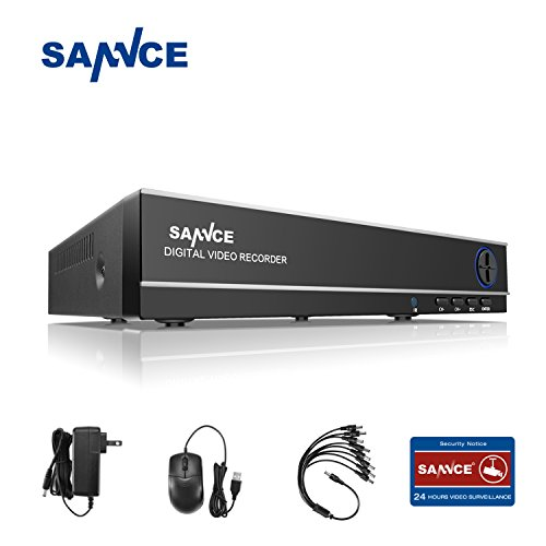 - SANNCE 8CH 1080N CCTV DVR H.264 8 Channel Digital Video Recorder for Security Camera System Mobile Phone Monitoring Motion Detection Email Alert, Built in UPS Battery, NO HDD